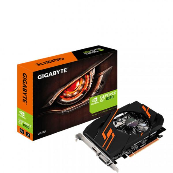 1030 Gigabyte NVIDIA GT1030 OC HDMI/DVI/GDDR5/2GB Videokaarten