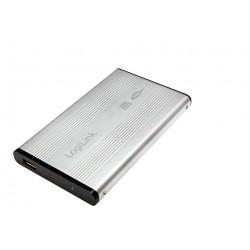 "2.5"" Logilink Enclosure USB2.0 / SATA / Zilver Opslagbehuizingen"