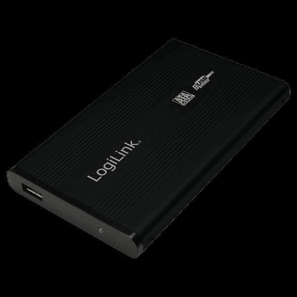 "2.5"" Logilink Enclosure USB2.0 / SATA / Zwart Opslagbehuizingen"