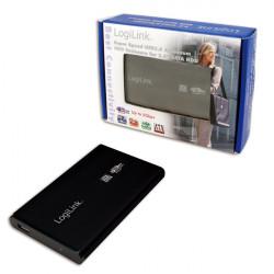 "2.5"" Logilink Enclosure USB3.0 / SATA / Zwart Opslagbehuizingen"