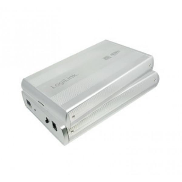"3.5"" LogiLink Enclosure USB3.0 / SATA / Zilver Opslagbehuizingen"