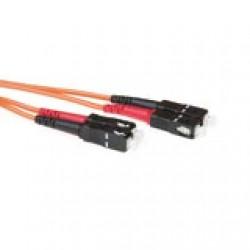 ACT 0,5 meter LSZH Multimode 50/125 OM2 glasvezel patchkabel duplex met SC connectoren