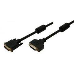 DVI-D 5.00m Verlenging Logilink DVI-kabels