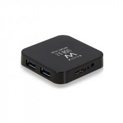 Ewent EW1134 USB 3.1 (3.1 Gen 2) Type-A 5000Mbit/s Zwart hub & concentrator Kabels en adapters