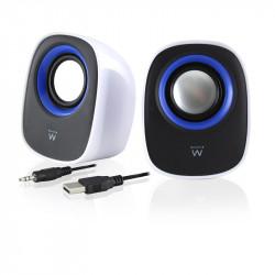 Ewent EW3513 Stereo portable speaker 5W Zwart, Blauw, Wit draagbare luidspreker Beeld en Geluid