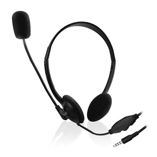 Ewent EW3567 Hoofdband Stereofonisch Bedraad Zwart mobiele hoofdtelefoon Beeld en Geluid