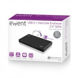 "Ewent EW7032 HDD-/SSD-behuizing 2.5"" Zwart opslagbehuizing Opslagmedia"