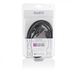 Ewent EW9830 2m DVI-D DVI-D Zwart DVI kabel Kabels en adapters