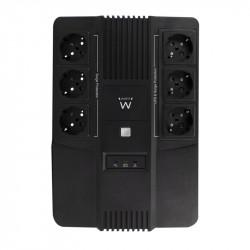 Ewent UPS, 600 VA, 6x Type F outlet, 1x IEC C14 input, 230 V, AVR