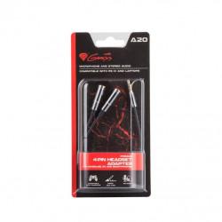 Genesis 4-Pin Headset Adapter A20 voor PS4, PC / Smartphone