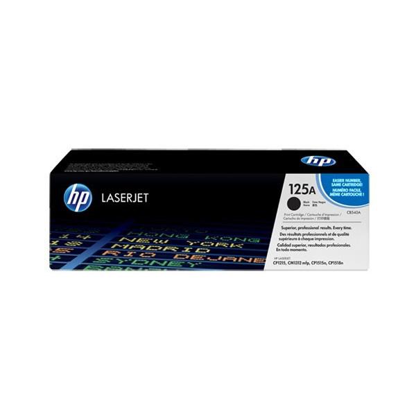 HP No.125A Zwart 2.200 pagina`s (Origineel) CB540A Toners