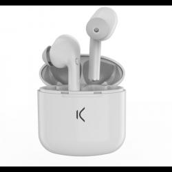 KSIX TRUE BUDS - Draadloze oordopjes met microfoon en case - Wit