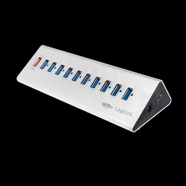 LogiLink 11 Port Hub, USB 3.0 actief (aluminium) Interface hubs