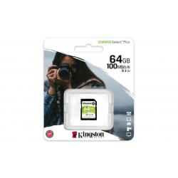 SDXC Card 64GB Kingston UHS-I Canvas Select Plus Flashgeheugens